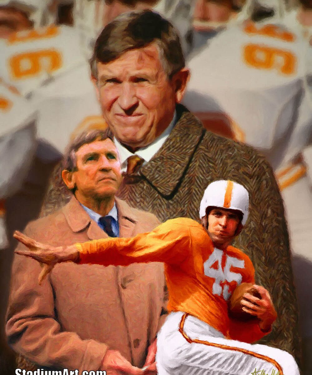 UT Vols Johnny Majors Tennessee Volunteers Coach NCAA College Football Art Print 2520
