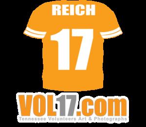 VOL17.com Logo Reich Jersey 17 UT Vols