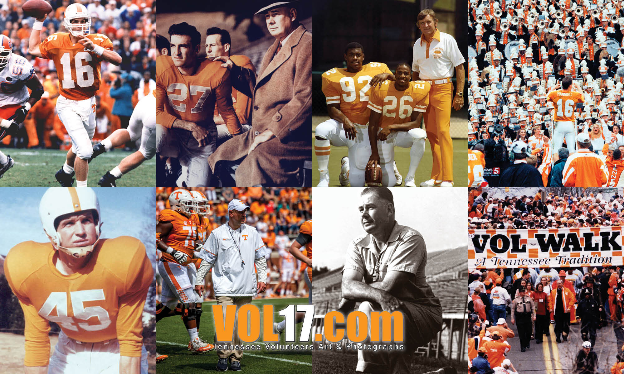 VOL17.com Tennessee Vols Legendsary Coaches and Players