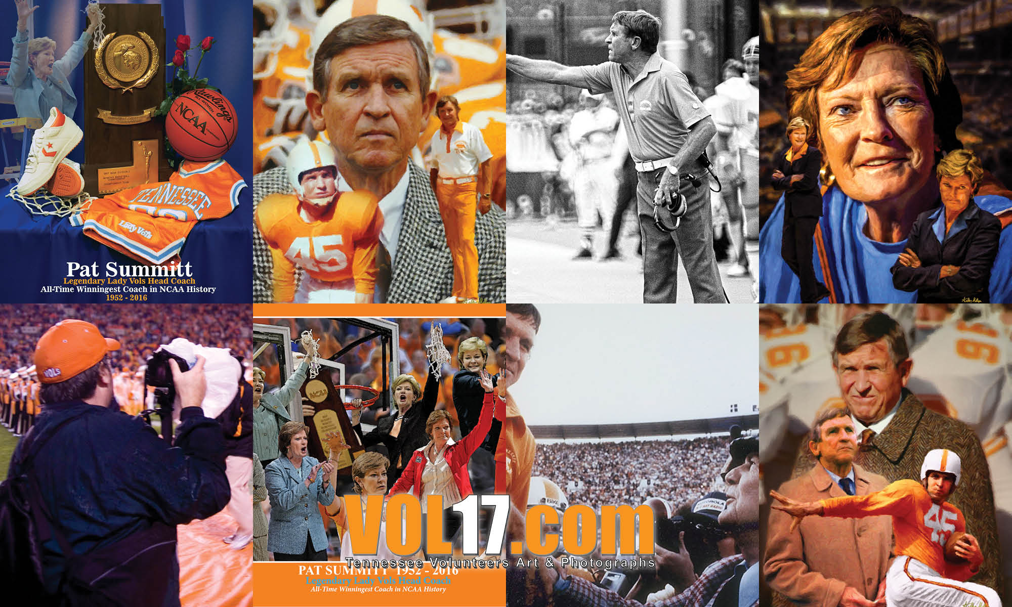 VOL17.com Johnny Majors, Pat Summit, Phil Reich