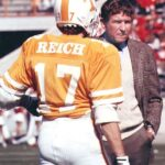 Phil Reich with Coach Johnny Majors